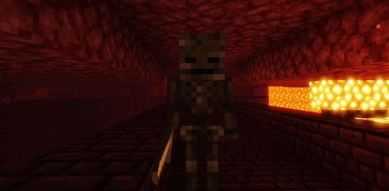 Shown: A Wither Skeleton looking for its next victim (Image via Minecraft)