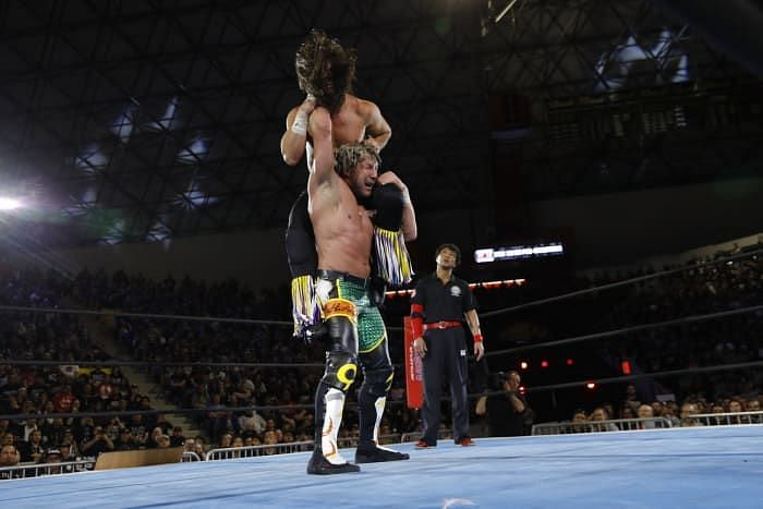 Kenny Omega performing the One-Winged Angel