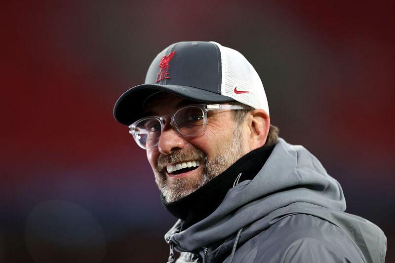 Liverpool manager Jurgen Klopp looks on