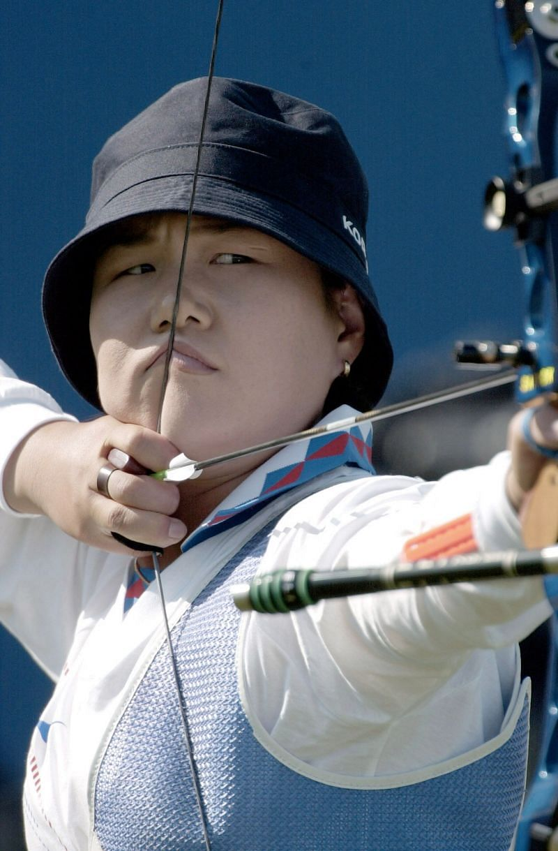 Kim Soo-nyung in action at the 2000 Sydney Olympics