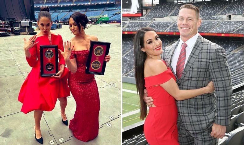 The Bella Twins; Nikki Bella and John Cena