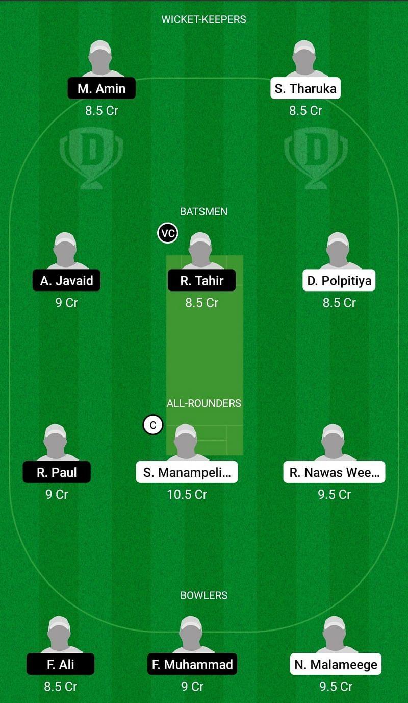 Dream11 Team for Bogliasco vs Bergamo United - ECS T10 Milan 2021.