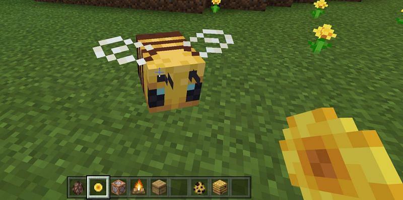 Breeding of Bees in Minecraft
