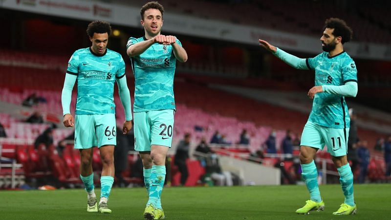 It's time FPL managers could consider Alexander-Arnold( left), Diogo Jota (centre) and Mohamed Salah( right).