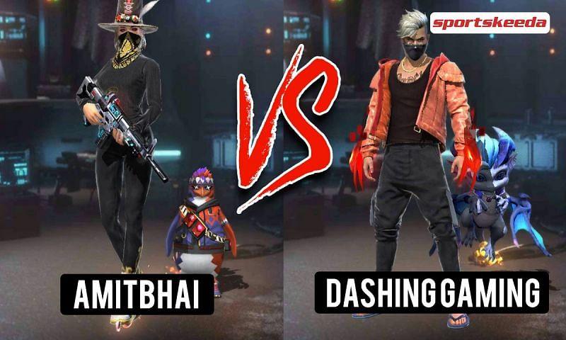 Garena Free Fire: Amitbhai (Desi Gamers) vs Dashing Gaming