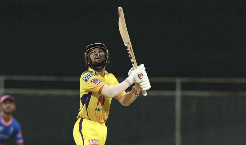 Ruturaj Gaikwad just managed 10 runs against Rajasthan Royals on Monday (Photo: BCCI)
