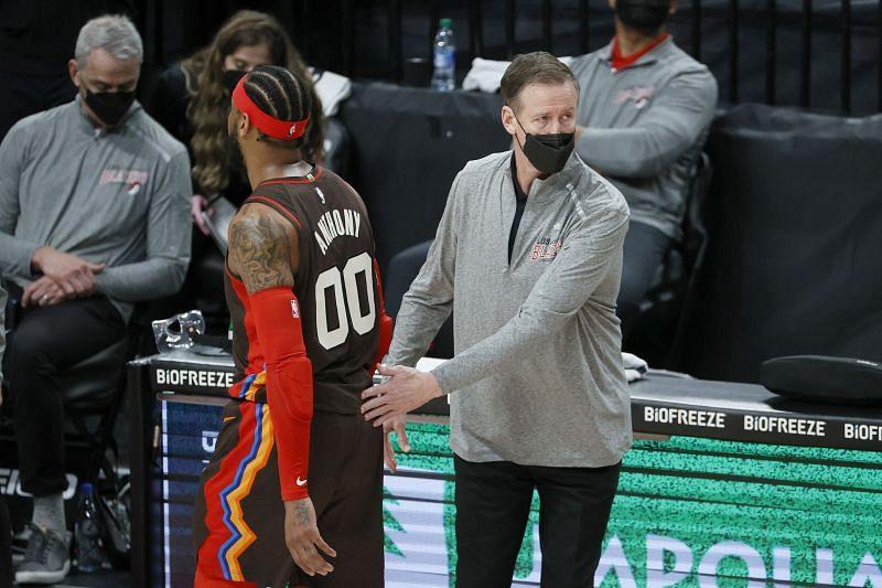 Portland Trail Blazers head coach Terry Stotts