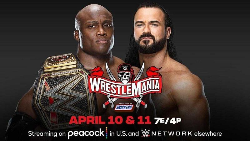 Match graphic for Bobby Lashley vs Drew McIntyre