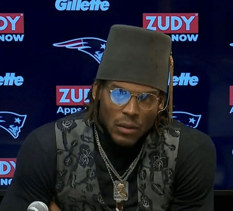 Cam Newton press conference outfit