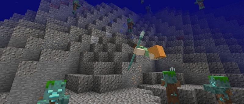 Minecraft player underwater (Image via trueachievements)