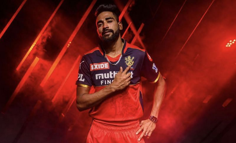 Mohammed Siraj in promotional shoot for RCB.