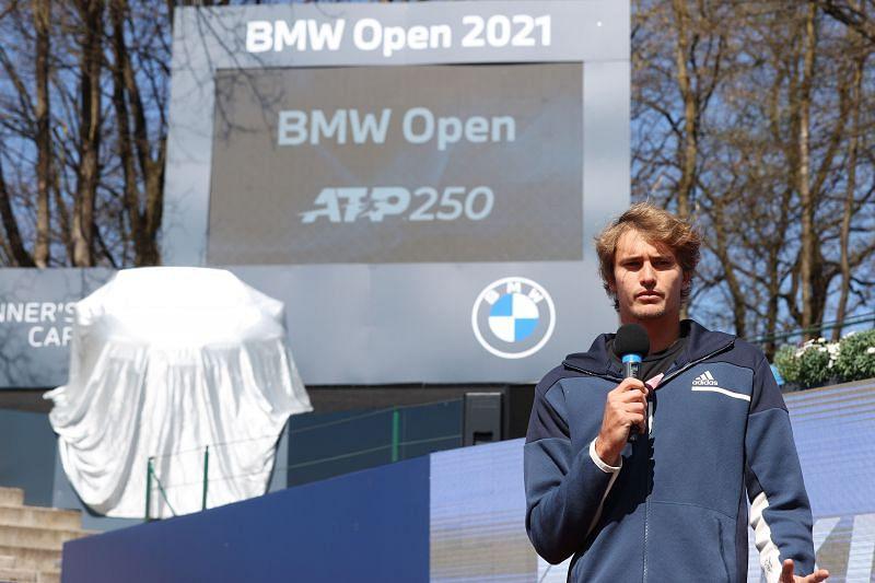 Alexander Zverev speaks to the media ahead of the 2021 BMW Open in Munich