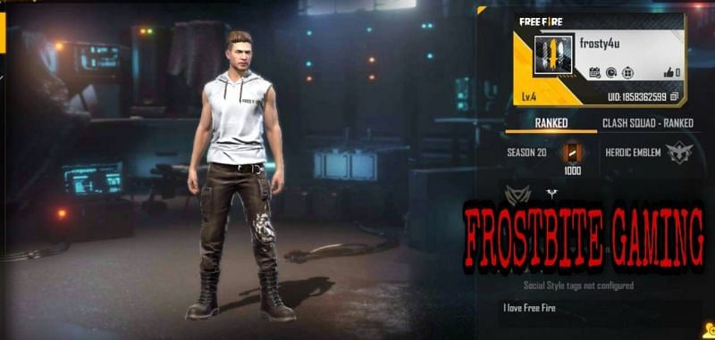 Frostbite Gaming की Free Fire ID