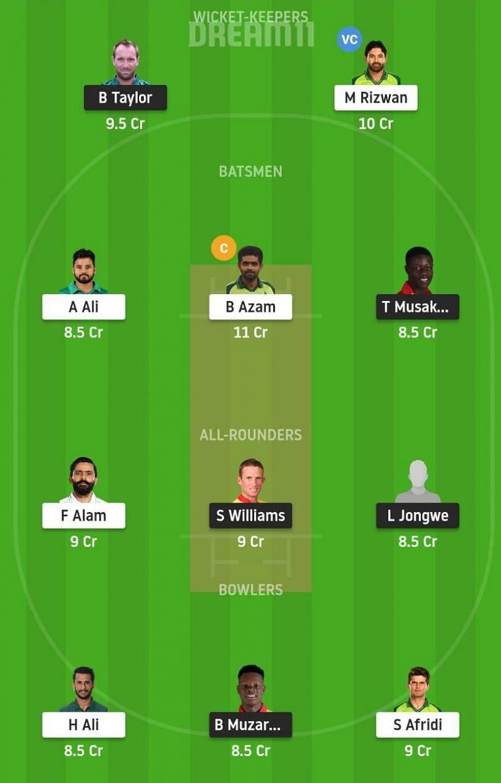 Zimbabwe vs Pakistan Dream11 Tips