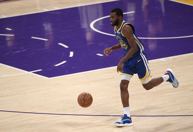 Andrew Wiggins with the Golden State Warriors