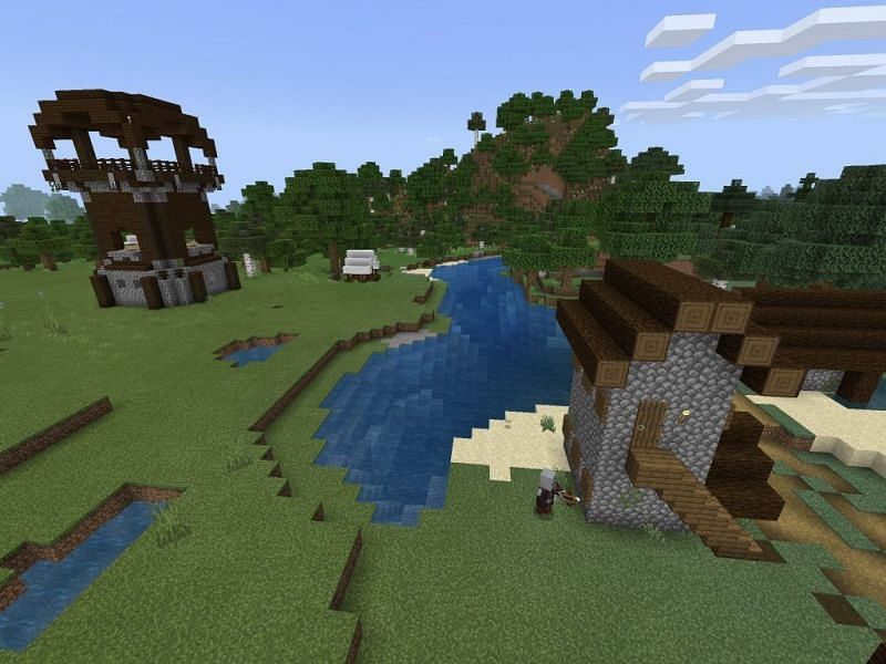 Pillager outpost (Image via minecraftseedhq)