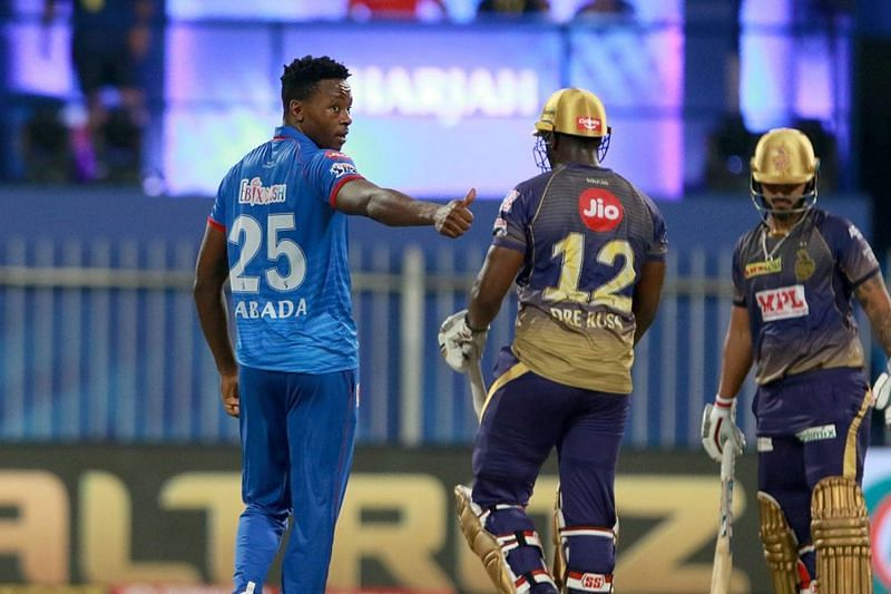 Andre Russell and Kagiso Rabada could have an enticing duel on Thursday. (Image Courtesy: IPLT20.com)