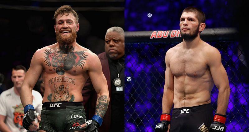 Conor McGregor (Left) and Khabib Nurmagomedov (Right)