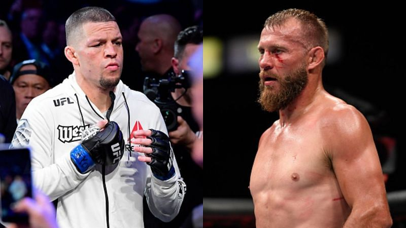 Nate Diaz (left) and Donald