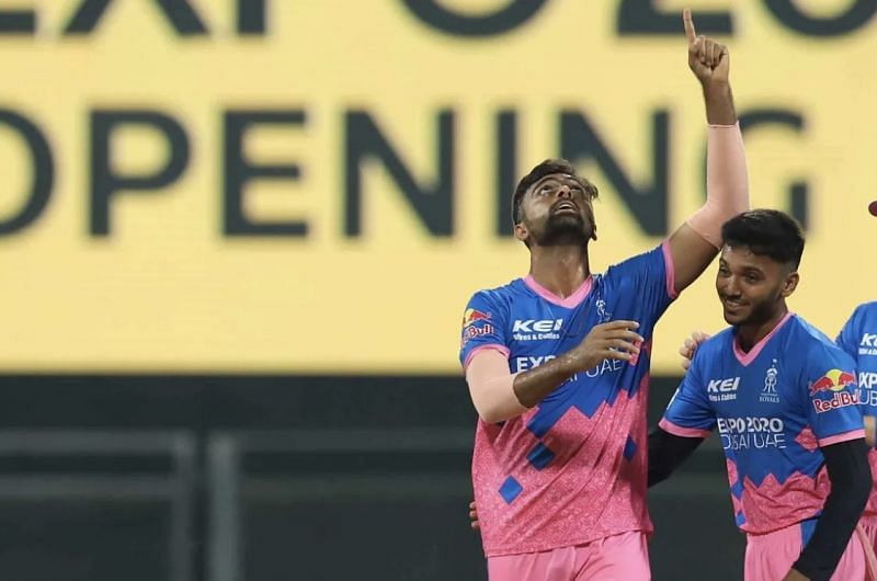 Jaydev Unadkat (left) celebrates a wicket with Chetan Sakariya (Photo: BCCI)