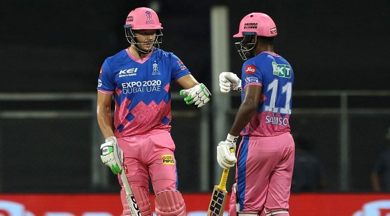 David Miller and Sanju Samson guided RR to a six-wicket win over KKR (Image source @RajasthanRoyals Twitter)