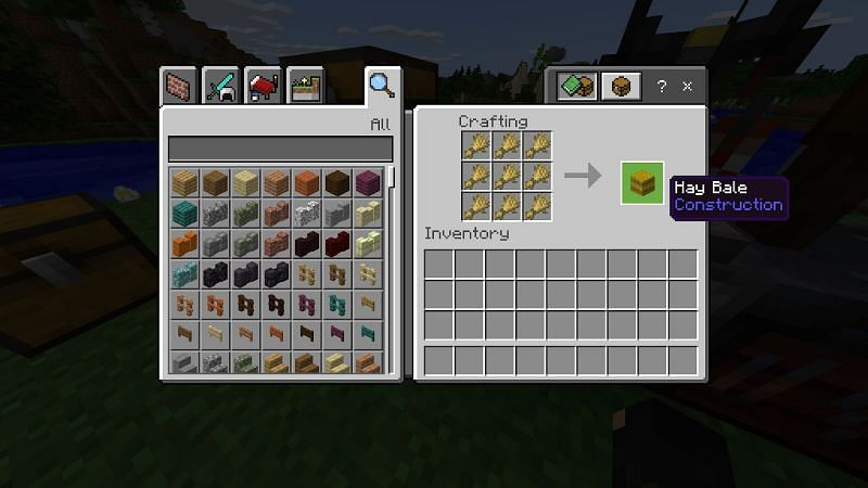 How to make a hay bale in Minecraft