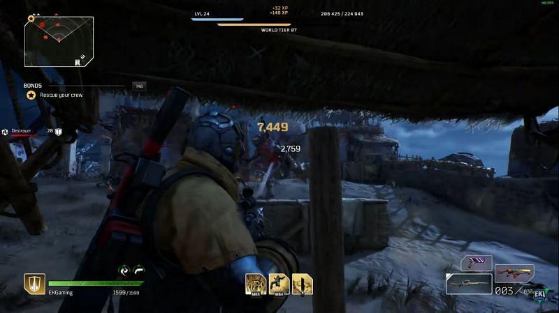 Combat in Outriders (Image via EK1 Gaming)