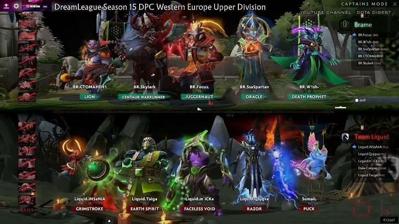 The match 3 draft (Image via DreamLeague)