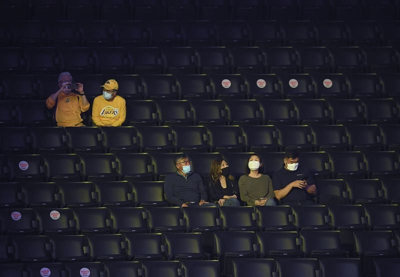 Limited seating was one of the precautions by the NBA during the pandemic