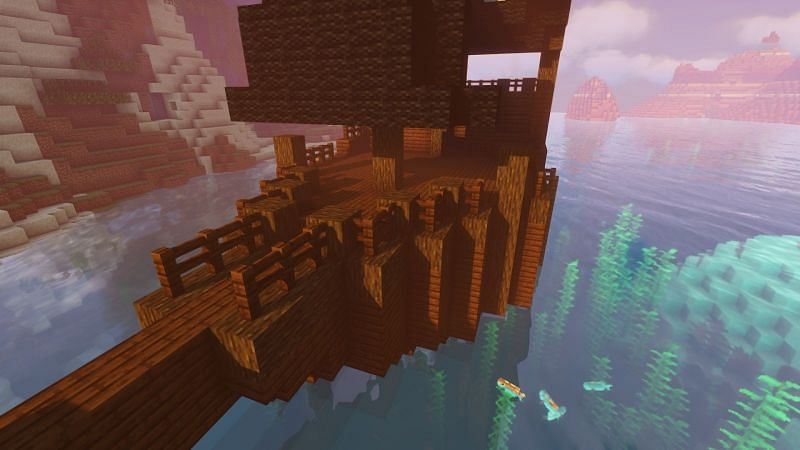 Detailing the deck in Minecraft