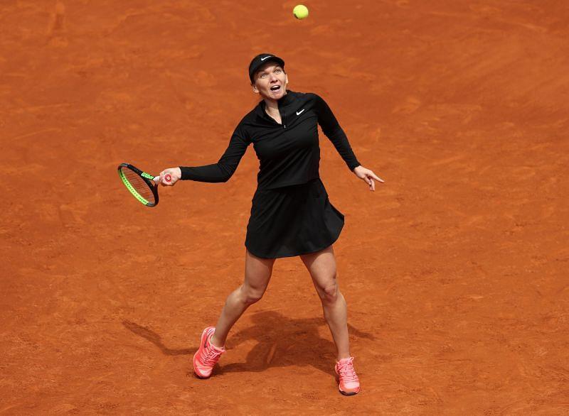 Simona Halep at the 2021 Mutua Madrid Open