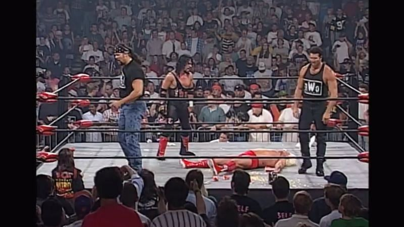 The nWo attacked Ric Flair on WCW Nitro.