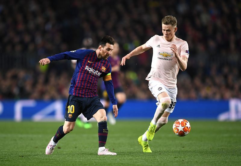 Lionel Messi played Scott McTominay in the Champions League in 2019