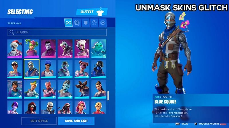 Blue Squire with his mask/helmet on (Image via Glitch King, YouTube)