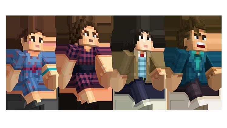 The Stranger Things skin pack (Image via Minecraft)