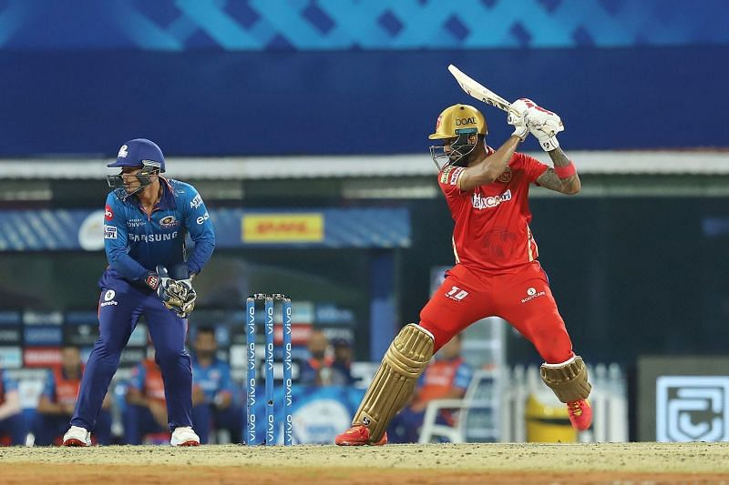 KL Rahul looked solid against MI. (Image Courtesy: IPLT20.com)
