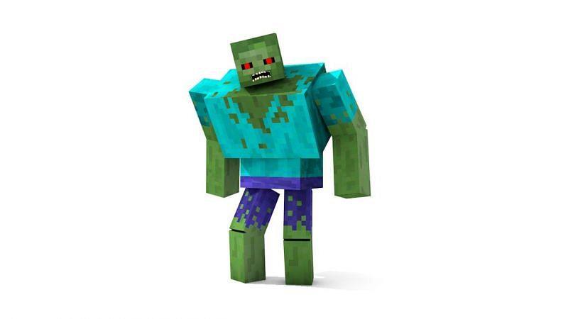 Mutant zombie Minecraft (Image via turbosquid)