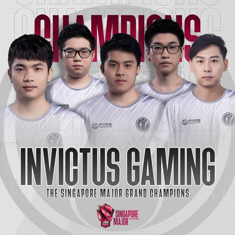 The Winners of the Singapore Major - Invictus Gaming