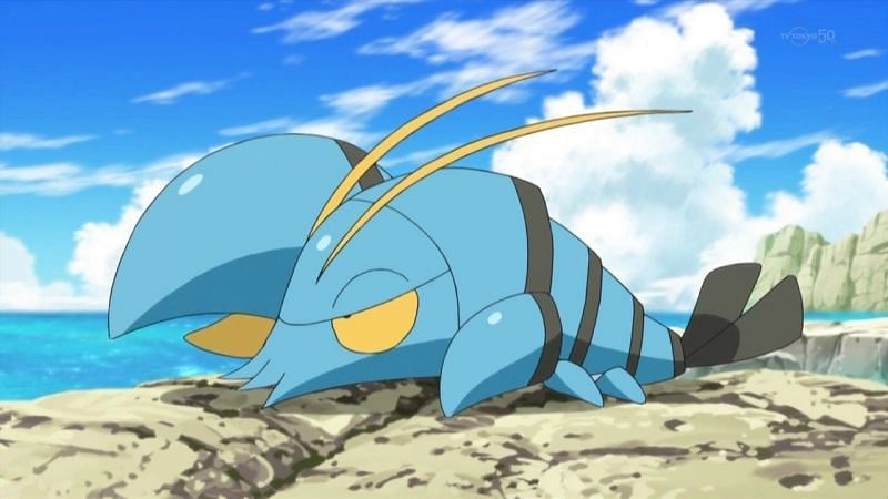 As an aquatic Pokemon, Clauncher is mostly found in wet areas, such as near rivers, ponds, and lakes (Image via The Pokemon Company)