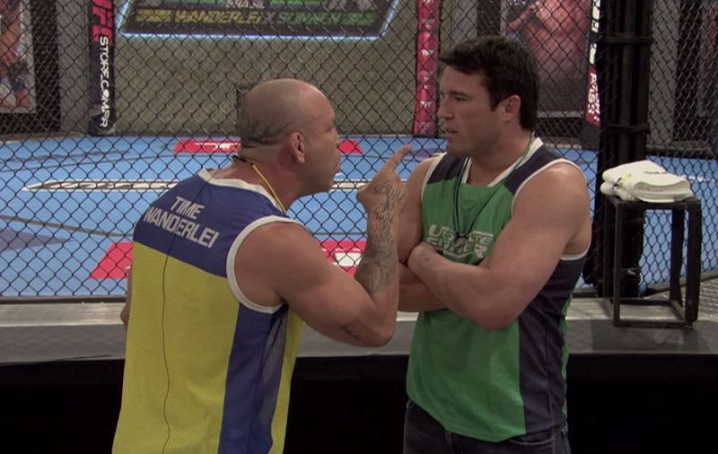 Chael Sonnen and Wanderlei Silva became the first TUF coaches to physically fight during the show