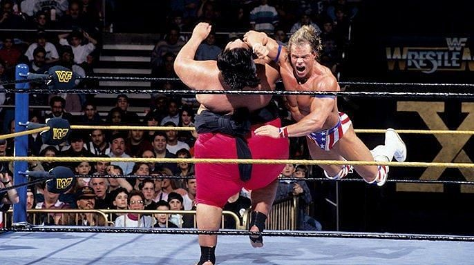 Lex Luger failed to capture the WWE Championship from Yokozuna.