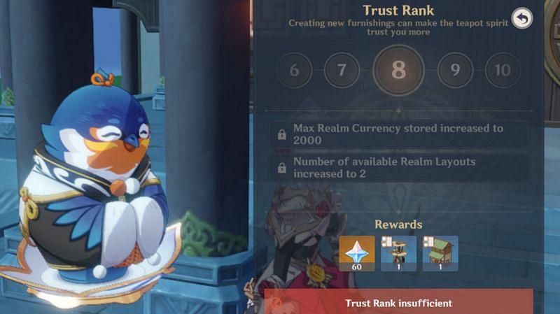 Rank 8 reward and privileges