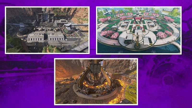 The three repurposed areas from Apex Legends