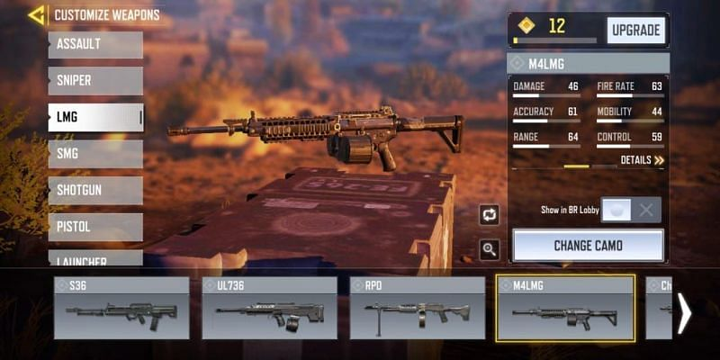 M4LMG with in-game stats (Image via Activision)