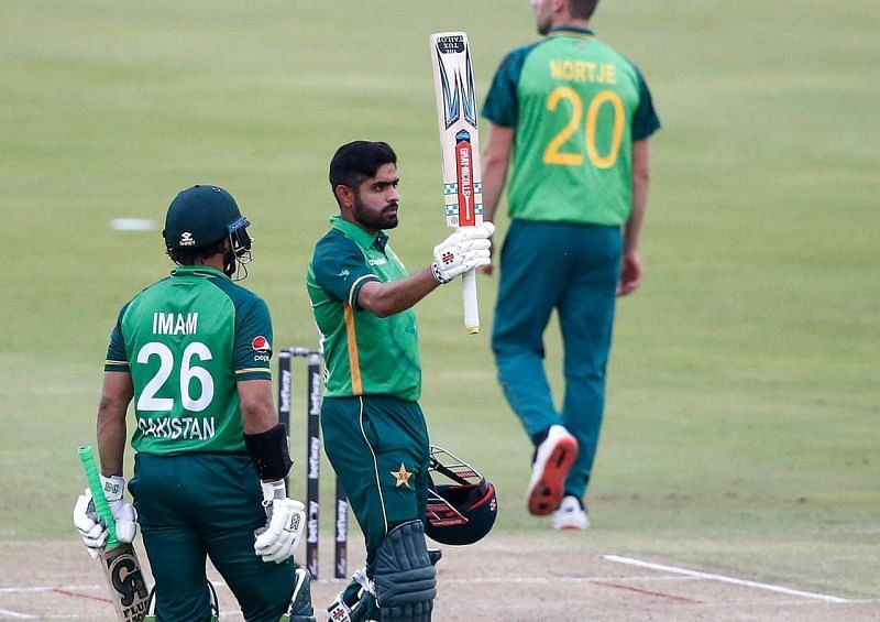 Babar Azam became the quickest to reach 13 ODI hundreds during the first ODI [Credits: PCB]