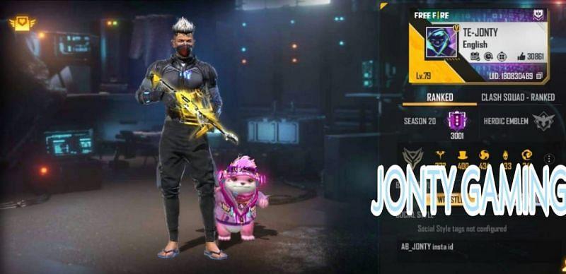 Jonty Gaming की Free Fire ID