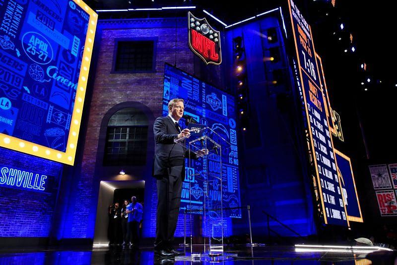 NFL Commissioner Roger Goodell speaks during the 2019 NFL Draft.
