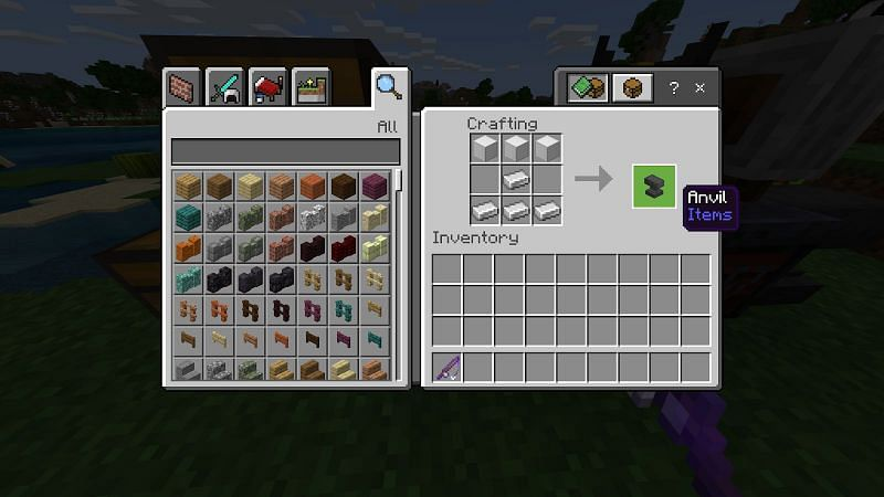 To make an anvil you will need 3 iron blocks and 4 iron ingots.