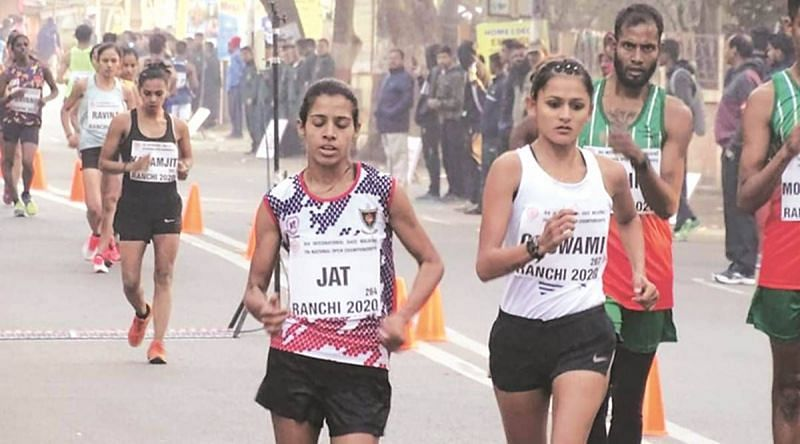 Bhawana Jat (left) vows to give her best at the Tokyo Olympics (Source: AFI)