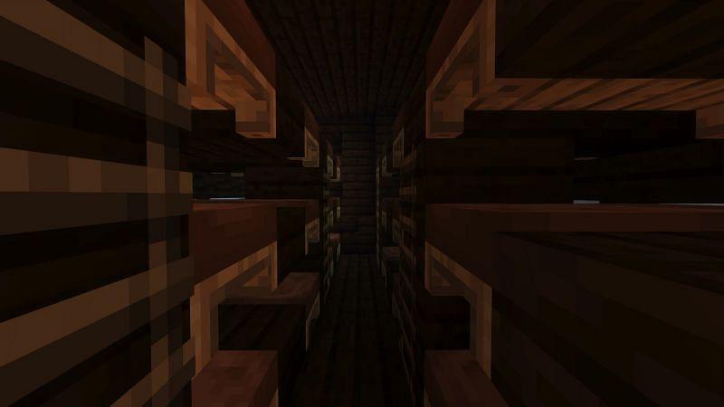 Making the below of deck in Minecraft